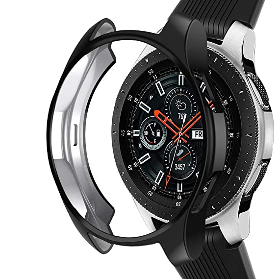 3e82312bfd95c Case Compatible Samsung Galaxy Watch 46mm, NaHai TPU Slim Plated Case  Shock-Proof Cover