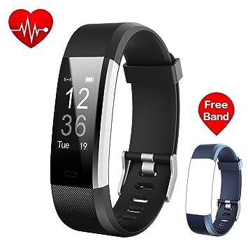 iPosible Pulsera Actividad, Pulsera Reloj Inteligente con Pulsómetro Impermeable IP67, Monitor de Frecuencia Cardiáco