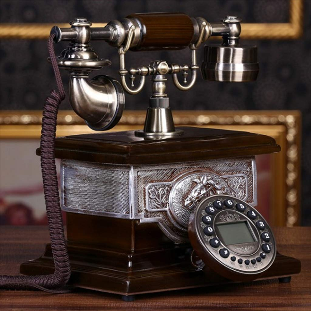 Bove Retro Telephone, Classical Old Fashioned Rural Fixed Number Caller ID Handle Accessories Digital LCD Display Corded Decorative Telephones-B by Bove