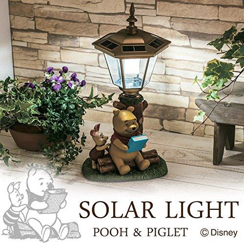 ソーラーライト LED ガーデンライト 屋外照明 ディズニー くまのプーさん&ピグレット かわいい B0765VWRH5 17280