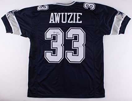 969b1642a6d Image Unavailable. Image not available for. Color: Chidobe Awuzie #33  Signed Autographed Dallas Cowboys Jersey ...