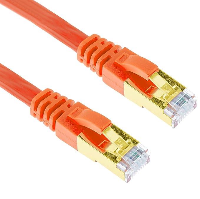 30 opinioni per 1m CAT.7 Cavo di Rete Piatto | Ethernet Gigabit LAN (RJ45) | 600MHz 10Gbps