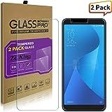 [2-Pack]Asus Zenfone Max Plus ZB570TL Tempered Glass Screen Protector, ZeKing 0.33mm 2.5D Edge 9H Hardness [Anti Scratch][Anti-Fingerprint] Bubble Free, Lifetime Replacement Warranty