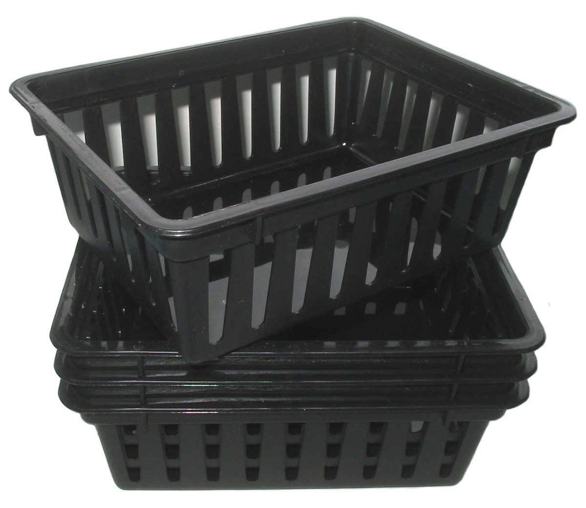 office storage baskets. mini plastic storage baskets pack of 4 black officecrafthobby containers amazoncouk diy u0026 tools office e