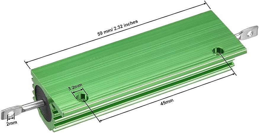 sourcing map Aluminiumgeh/äuse Widerstand 100W 500 Ohm Draht f/ür LED Ersatz Konverter