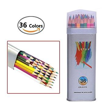 Amazon | FUNRUI 色鉛筆36色 水...