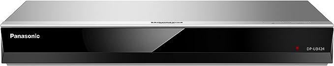 Panasonic DP-UB424EGS - Reproductor de Blu-Ray Ultra HD 4K (4K VoD, DLNA, 2x HDMI, USB), Plata