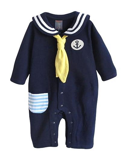Augelute - Recién Nacido Pijama Vestidos Enterizo para Bebés Niños Mangas Largas Acolchado Estilo Armada con