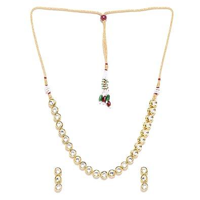 7eea8c7aaa2 Buy Jewels Galaxy Delicate Kundan Studded Single-Strand Gold Plated ...