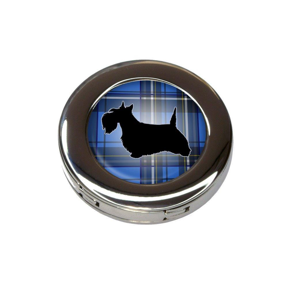 Scottie Dog on Blue Plaid Scottish Terrier Purse Handbag Hook Hanger Holder