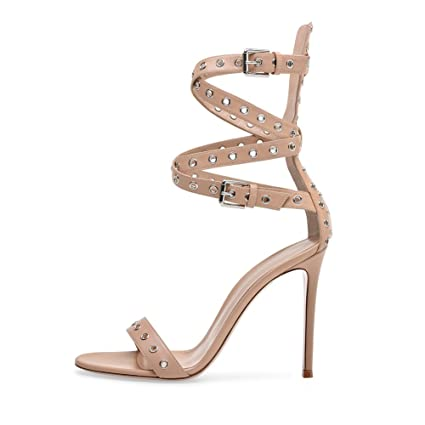 791e894b9dec8 Amazon.com: Women's Fish Mouth Buckle Strap Fashion High Heels Girls ...