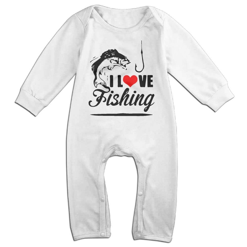 Mri-le1 Toddler Baby Boy Girl Jumpsuit I Love Fishing 4-1 Baby Clothes