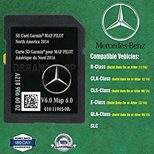 SD Card Garmin Map Pilot 2018 North America Mercedes-Benz Navigation A2189066002