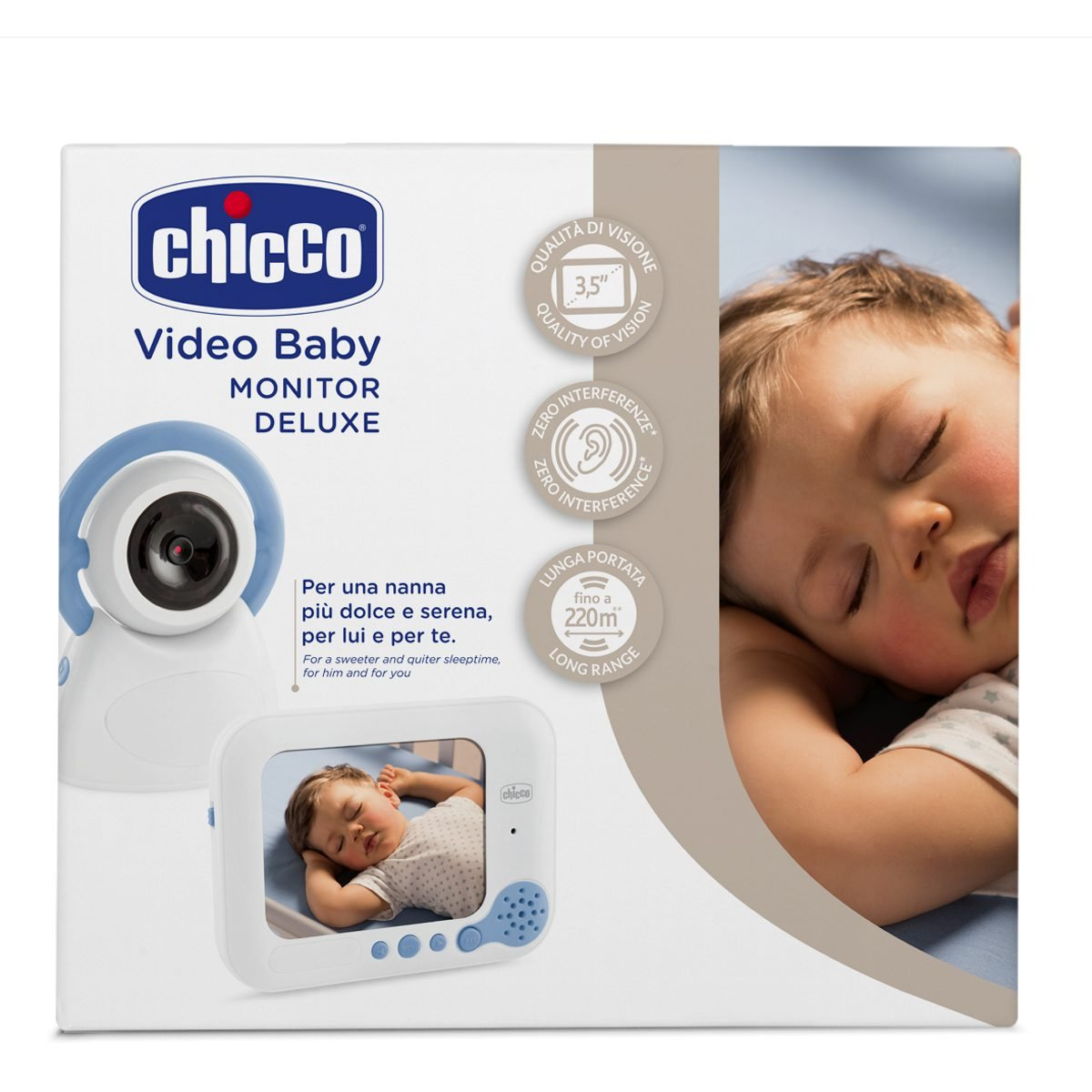 Chicco Baby Monitor Top Deluxe - Vigilabebés con cámara video, con visión nocturna: Amazon.es: Bebé