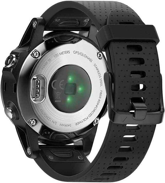 NotoCity Compatible Fenix 5S Watch Band Easy Fit Soft Silicone 20mm Replacement Watch Strap for Fenix 5S / 5S Plus/Fenix 6S/Fenix 6S Pro/D2 Delta S ...
