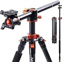Camera Tripod, K&F Concept 230cm Overhead Tripod Monopod with Horizontal Rotatable Center Column Arm 360 Degree Ball…