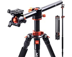 K&F Concept SA254T1 Camera Tripods 94 Inch 4 Section Aluminium Professional Detachable Monopod Tripod with 360 Degree Ball He