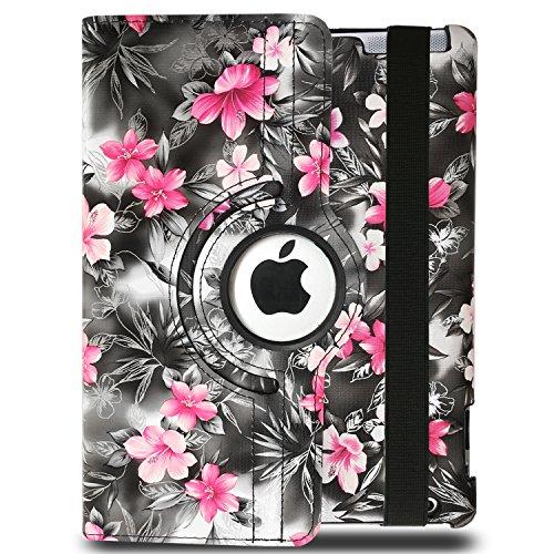 Apple iPad 2/3/4 Case - Jwest PU Leather 360 Degree Rotating