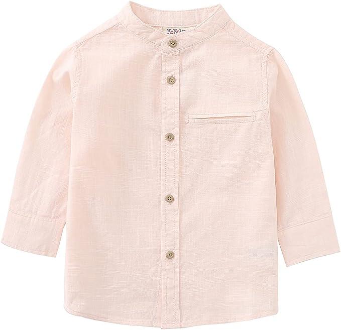 Buy MOMOLAND Little Boys Long Sleeve Mandarin Collar Woven
