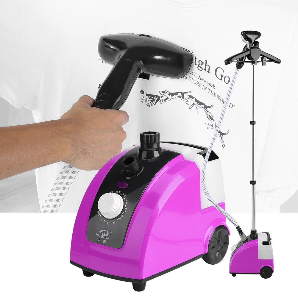 Estink Clothes Steamer,Heavy Duty 1700W Standing Vertical Floor Steam Irons Standing Fabric Steamer Fast Heat Up Steamer with Garment Hanger and Fabric Brush,Purple
