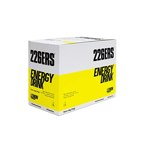226ERS Energy Drink, Limón - Paquete de 15 x 50 gr - Total: 750