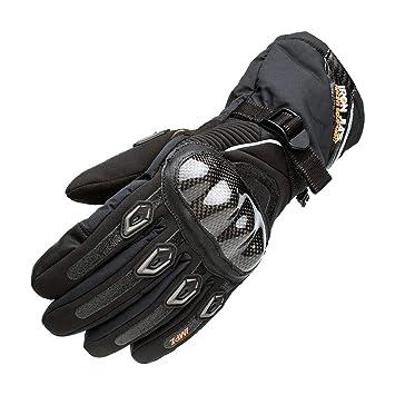 Waterproof Motorcycle Gloves Motorbike Warm Hard Knuckle Winter Full Finger