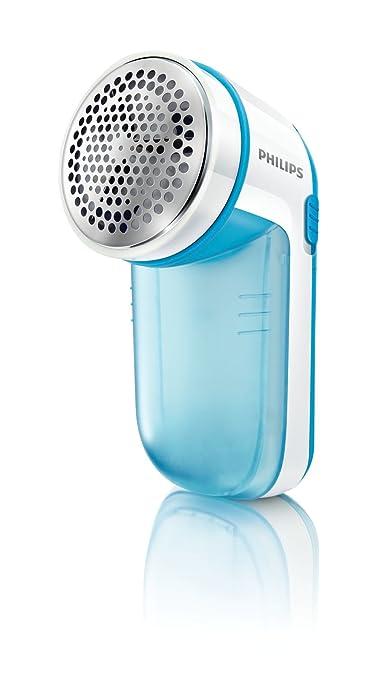 610 opinioni per Philips GC026/00 Levapelucchi, Alimentazione a Batteria, Bianco/Blu