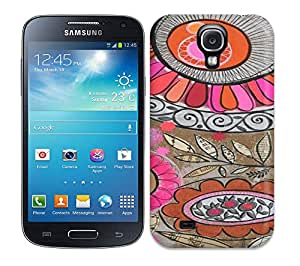 Romantic Area Protective Case For Galaxy S4(Bold Floral Horizontal)
