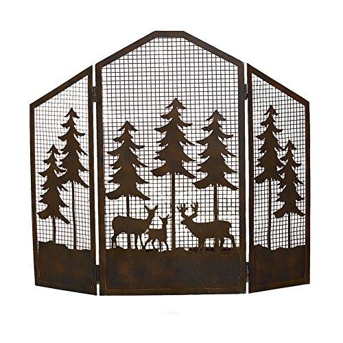 Northwoods Cabin Rustic Fireplace Screen