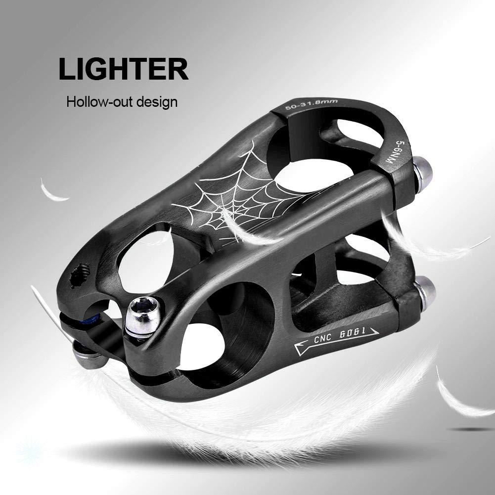 Alomejor 31.8 50mm Potence de Guidon de V/élo Haute R/ésistance/Potence en Alliage daluminium pour VTT BMX