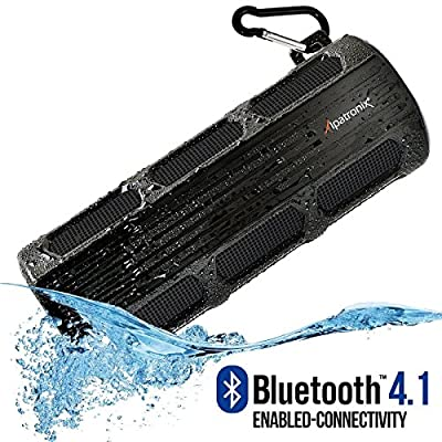Waterproof Bluetooth Speaker, Alpatronix AX410 3000mAh Portable 12W Stereo Shockproof Wireless Speaker with Built-in Mic & Passive Subwoofer for iPod, Smartphones, Tablets, Laptops & PC