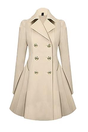 2503aede84a Suvotimo Women Casual Plus Size Double Button Fleece Outerwear Coat Parkas  Cardigans Aricot XS