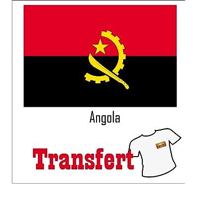 3 Transferts pour textile clair 25 x 40 mm Drapeau Angola