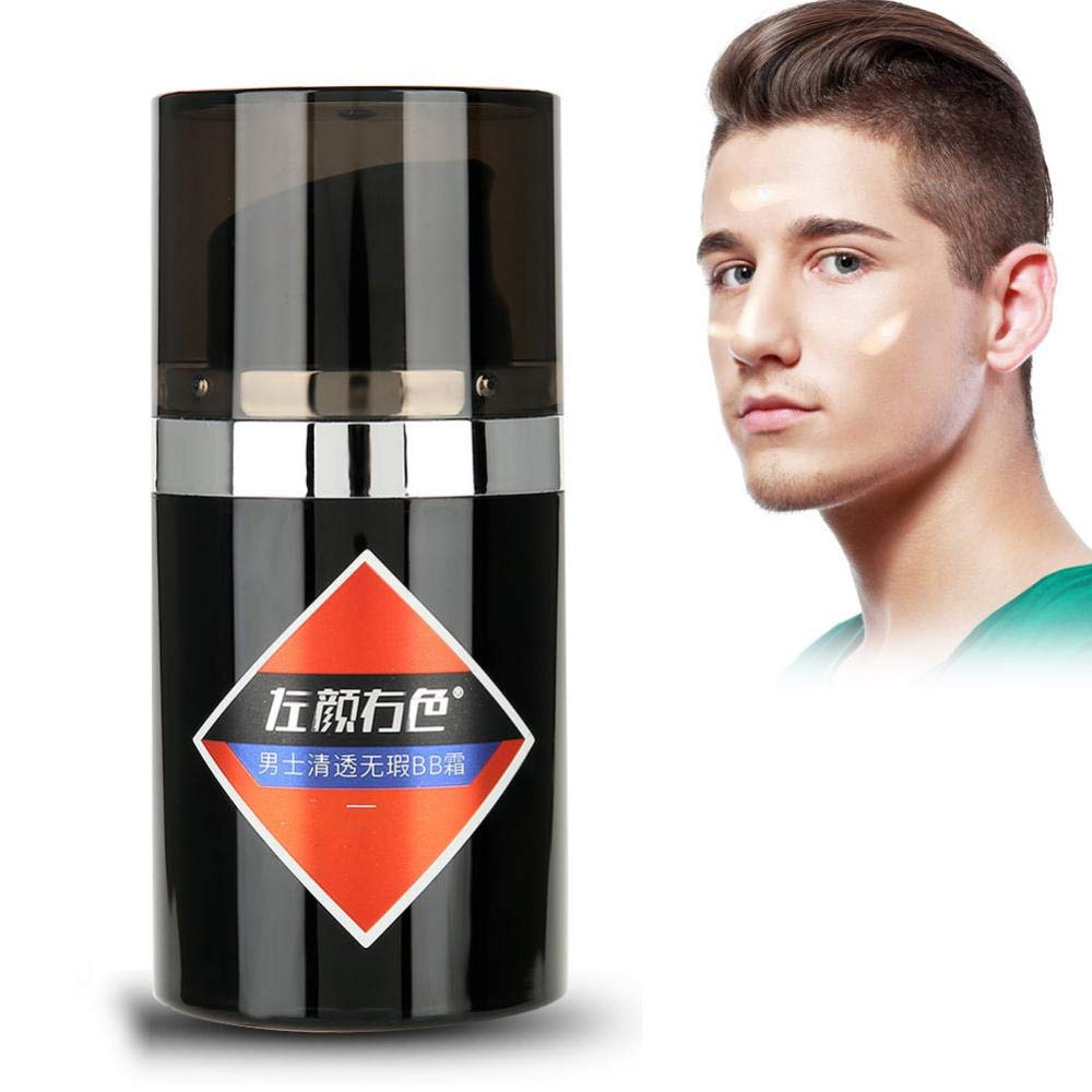 Men's BB Cream, Concealer + Makeup + Pink + Isolation, Clear and Flawless, Natural Nude Makeup (#2) Brrnoo