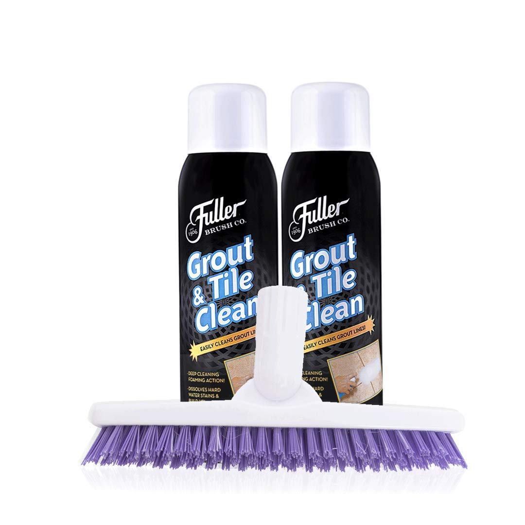 Fuller Brush Grout & Tile Cleaner Set - Heavy Duty Solution for Mold & Mildew for Brushing Bathtub, Tiles & Floor - Clean Sink, Toilet & Bathroom for Home & Business.