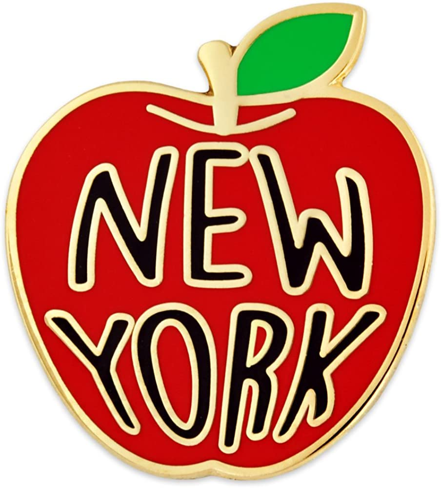 PinMart New York Big Apple Jewelry Souvenir Enamel Lapel Pin
