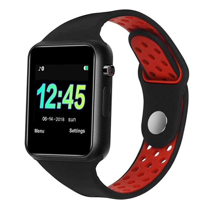 Smart Watch Waterproof Sport Bluetooth Smartwatches Touch Screen with Camera Pedometer SIM TF Card Slot with Compatible iOS iPhone X 8 7 6 6S Plus ...