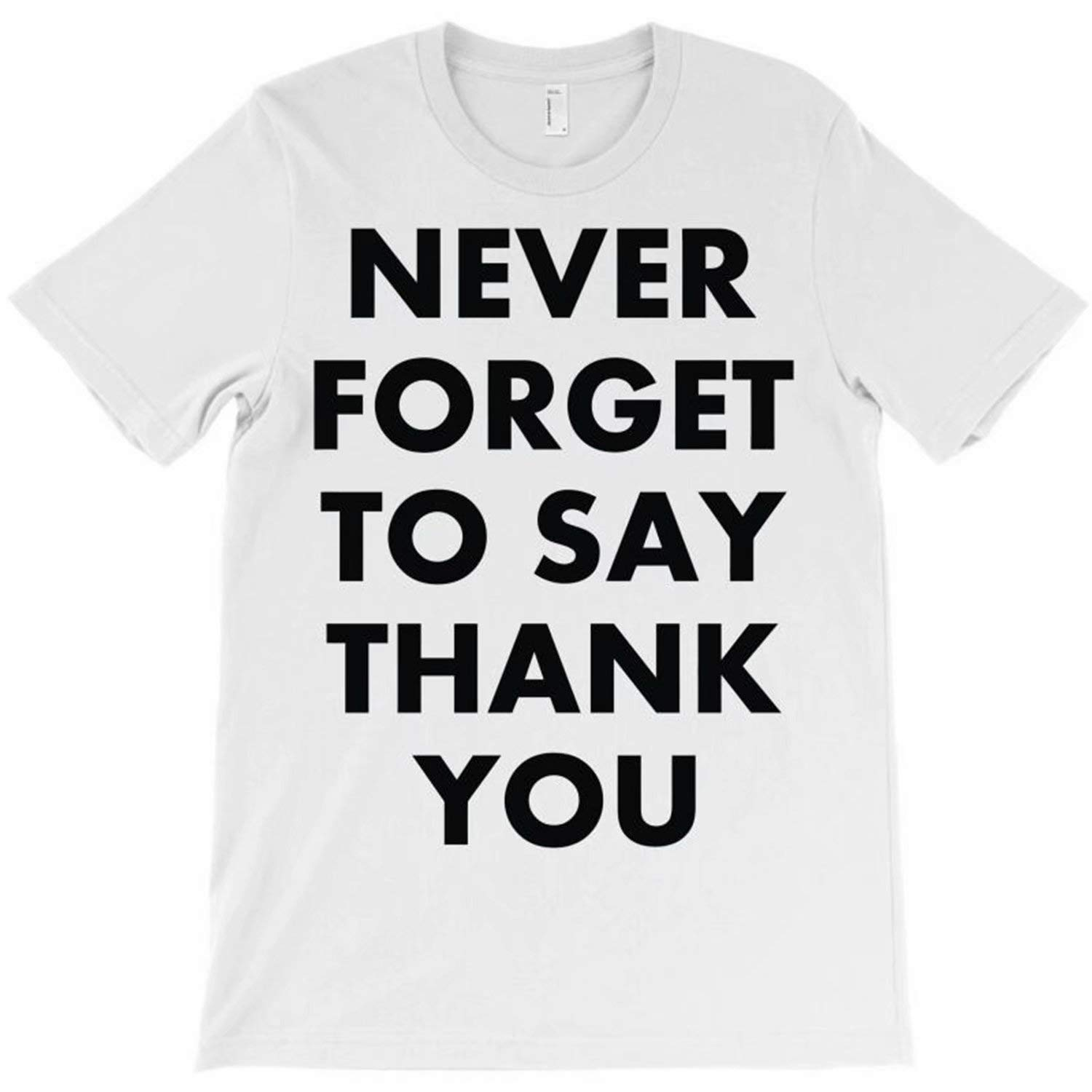Hocoo Infant Boys Girls Summer Shirt Never Forget to Say Thank You T-Shirt