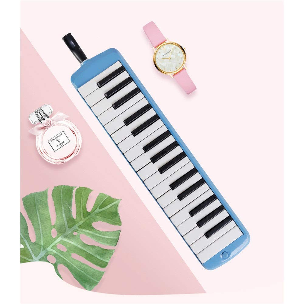 Melodica Musical Instrument 32 Keys Piano Keyboard Style Melodica With Portable Carrying Case Kids Musical Instrument Gift Toys For Music Lovers Beginners Mouthpieces Tube Sets Blue Pink for Music Lov by Shirleyle-MU (Image #2)