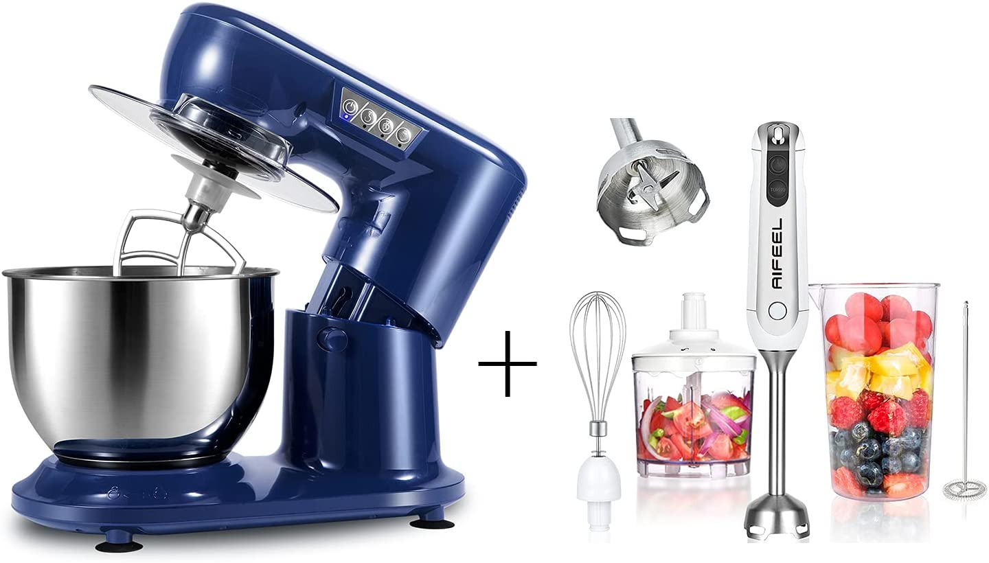 Aifeel Stand Mixer, 800W Electric Kitchen Dough Mixer with AIFEEL hand blender 5 in 1 set