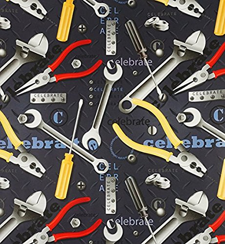Handyman Tool Box Rolled Gift Wrapping Paper -24