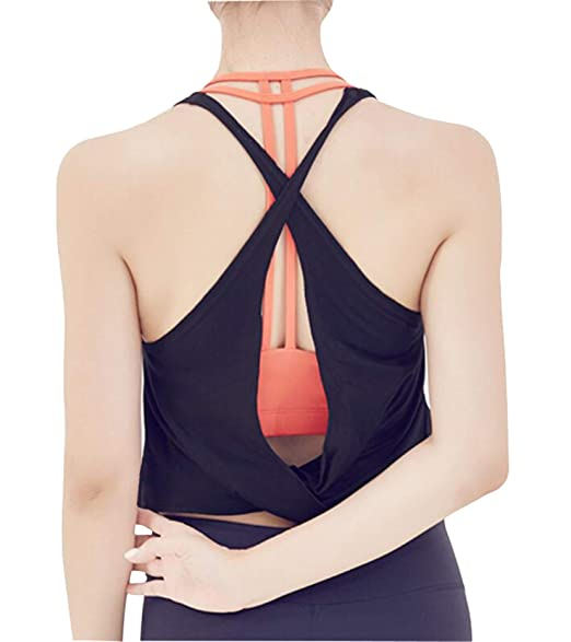 Amazon.com: Ersuely - Camiseta de tirantes anchos para mujer ...
