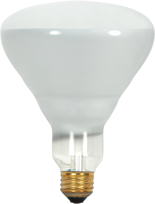 Satco Products Satco S8521 130-Volt 65-Watt BR40 Medium Base Light Bulb Frosted