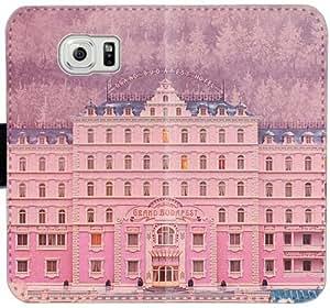 Gran Budapest Hotel Minimal Poster caja del cuero F2V3W Funda Samsung Galaxy S6 funda 41v26C manera genérica del teléfono celular Funda caso del tirón