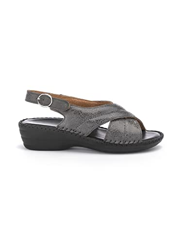 Avena Damen Supersoft-Sandalette Rundum Weich Grau 1ZKqd