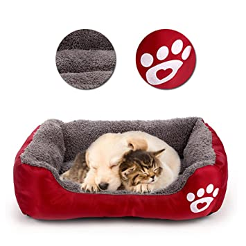 Vandot Camas para Perros, Cómodo Mascotas Sofá para Animales Lavable a Máquina Cama de Suave Felpa Colchón Funda ...