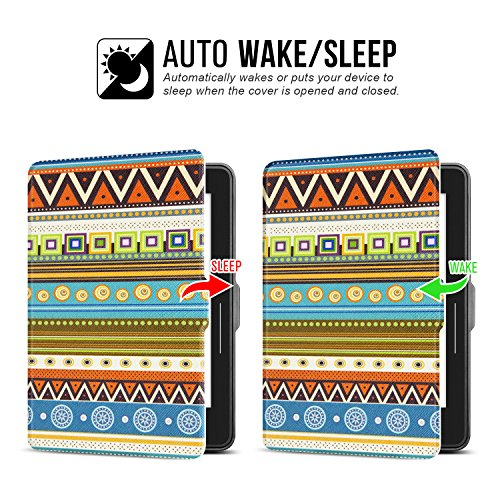Ayotu Case for Kindle Voyage E-reader Auto Wake and Sleep Smart Protective Cover, For 2014 Kindle Voyage Case Painting Series KV-04 The Totem by Ayotu (Image #3)