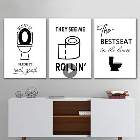XWArtpic WC Toilettenpapier Karma Zitieren Lustige Poster ...