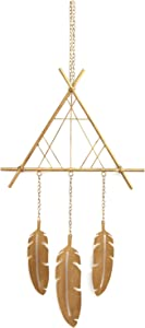 Stratton Home Decor Metal Boho Dreamcatcher, Gold, 14.17 W X 0.79 D X 32.09 H
