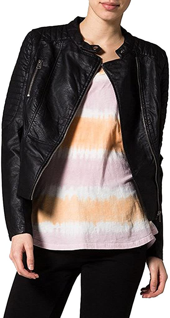 Womens Sheep Leather Motorcycle Slim Fit Outwear Jackets LFW046